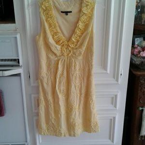 Yellow ribbon dress
